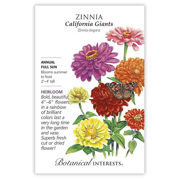 'California Giants' Zinnia from Botanical Interests