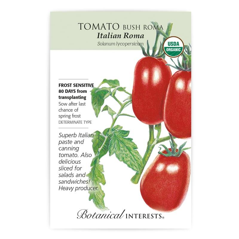 Tomato Bush Italian Roma Organic Seeds