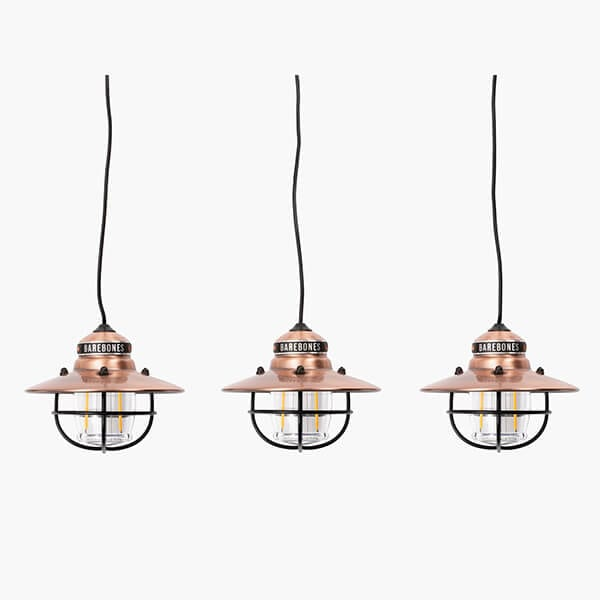 Edison string lights in copper